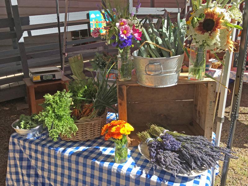 Garden produce from Appletree Farm, Eugene, OR