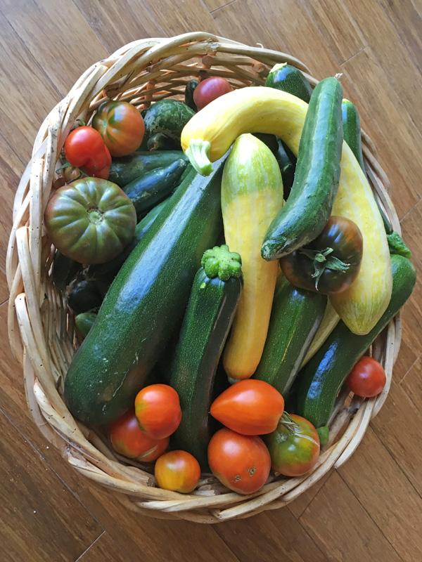 Fresh garden produce from Appletree Farm, Eugene, OR