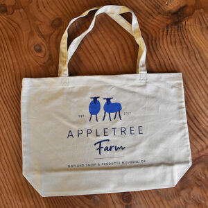 Large tote bag from Appletree Farm, Eugene, OR