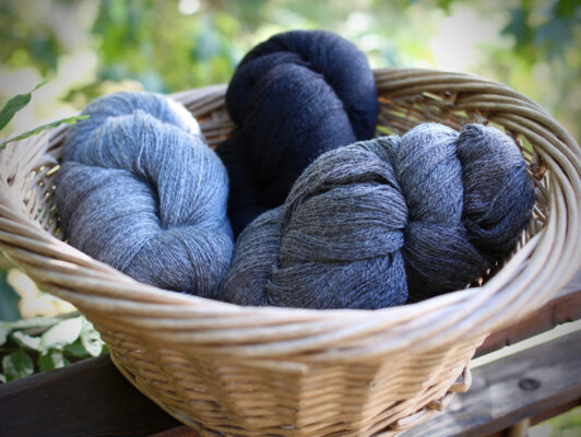 Wool yarn from Appletree Farm, Eugene, Oregon